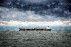 Ship at winter Stock Photo