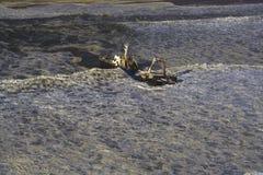 Ship Wreck. Sight seeing flight going North of Swakopmund along the Skeleton Coast Namibia Stock Photos