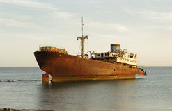 Ship wreck, Arrecife, Lanzarote Royalty Free Stock Photography