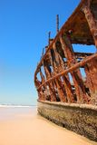 Ship Wreck on a Beach Stock Image