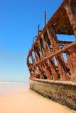 Ship Wreck on a Beach Stock Image