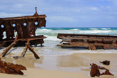 Rusty ship wreck Stock Images