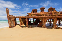 Rusty ship wreck Royalty Free Stock Photography