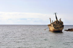 Ship wreck in Cyprus. In spring. Edro III Stock Images