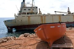 Ship wreck EDRO III in Cyprus Stock Photo
