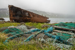 Ship wreck on ICeland Stock Image