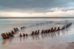 The ship wreck on the irish beach Royalty Free Stock Photo