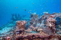 Ship Wreck in maldives indian ocean Stock Image