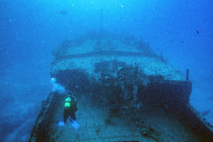 Ship Wreck in maldives indian ocean Stock Photography