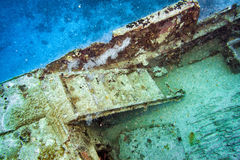 Ship Wreck in maldives indian ocean Stock Photo