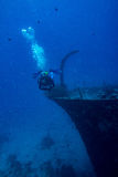 Ship Wreck in maldives Stock Images