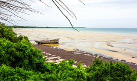 Ship wreck in Mozambique coastline Royalty Free Stock Photos
