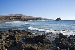 Ship wreck near Ajuy, Fuerteventura Stock Images