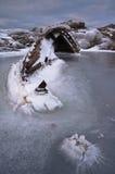 Ship-wreck no gelo Imagem de Stock