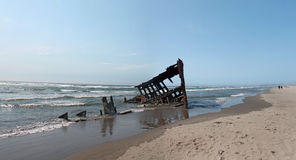 The Ship Wreck of the Peter Iredale Royalty Free Stock Images