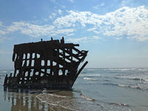 The Ship Wreck of the Peter Iredale Royalty Free Stock Photography