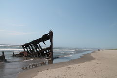 The Ship Wreck of the Peter Iredale Stock Image