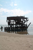The Ship Wreck of the Peter Iredale Stock Photos