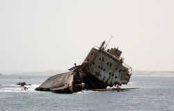 Ship Wreck in Red sea Royalty Free Stock Photo