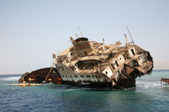 Ship Wreck in Red Sea Royalty Free Stock Images