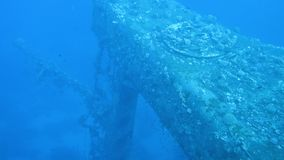 Ship wreck Salem Express. On seabed underwater in Red Sea, Egypt. Full HD underwater footage stock video