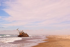 Ship wreck on sea Royalty Free Stock Photography