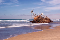 Ship wreck on sea Royalty Free Stock Photos