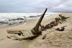 Ship Wreck in Skeleton Coast Royalty Free Stock Photo