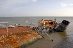 Ship wreck sunken Stock Photo