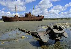 Ship wreck in Tierra del fuego Royalty Free Stock Photography