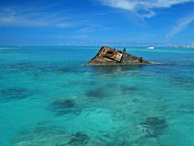 Ship Wreck in a Tropical Sea Royalty Free Stock Images