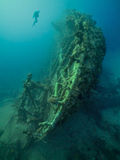 Ship wreck of the Ulysses in the Red Sea Royalty Free Stock Photography