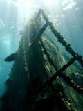 Ship wreck underwater Stock Photos