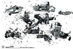 Ship wreckage Stock Photo