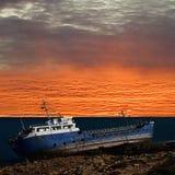Ship wrecked. stock photos