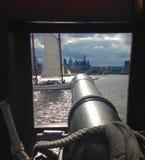 Ship& x27; cannone di s Fotografia Stock