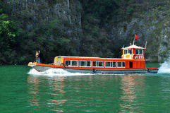 Ship on Yangtze Small Three Gorges At Wushan China Stock Images
