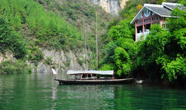 Ship on Yangtze Small Three Gorges At Wushan China Stock Photo