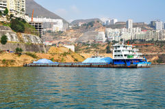 Ship on Yangtze Small Three Gorges At Wushan China Stock Image