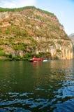 Ship on Yangtze Small Three Gorges At Wushan China Stock Image