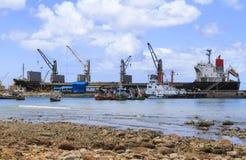 Ship yard with heavy crane Royalty Free Stock Photos