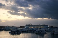 Ship yard on the red sea dec 21, 2012 stock photography