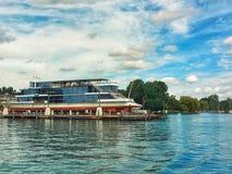 Ship in Zurich Lake Stock Photo