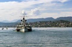 Ship on the Zurich Lake, Switzerland Stock Image