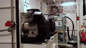 Shipboard desalination plant. Tug AHTS equipment stock video footage