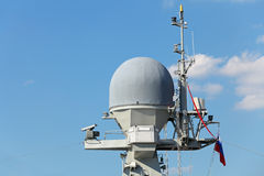 Shipborne radar Stock Photography