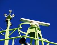 Shipborne Radar System. On Blue Sky Background stock photo