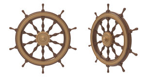 Shipborne wheel Royalty Free Stock Photo