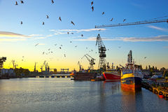 Shipbuilding Royalty Free Stock Photography