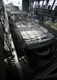 Shipbuilding. Big a vessel in shop Stock Images